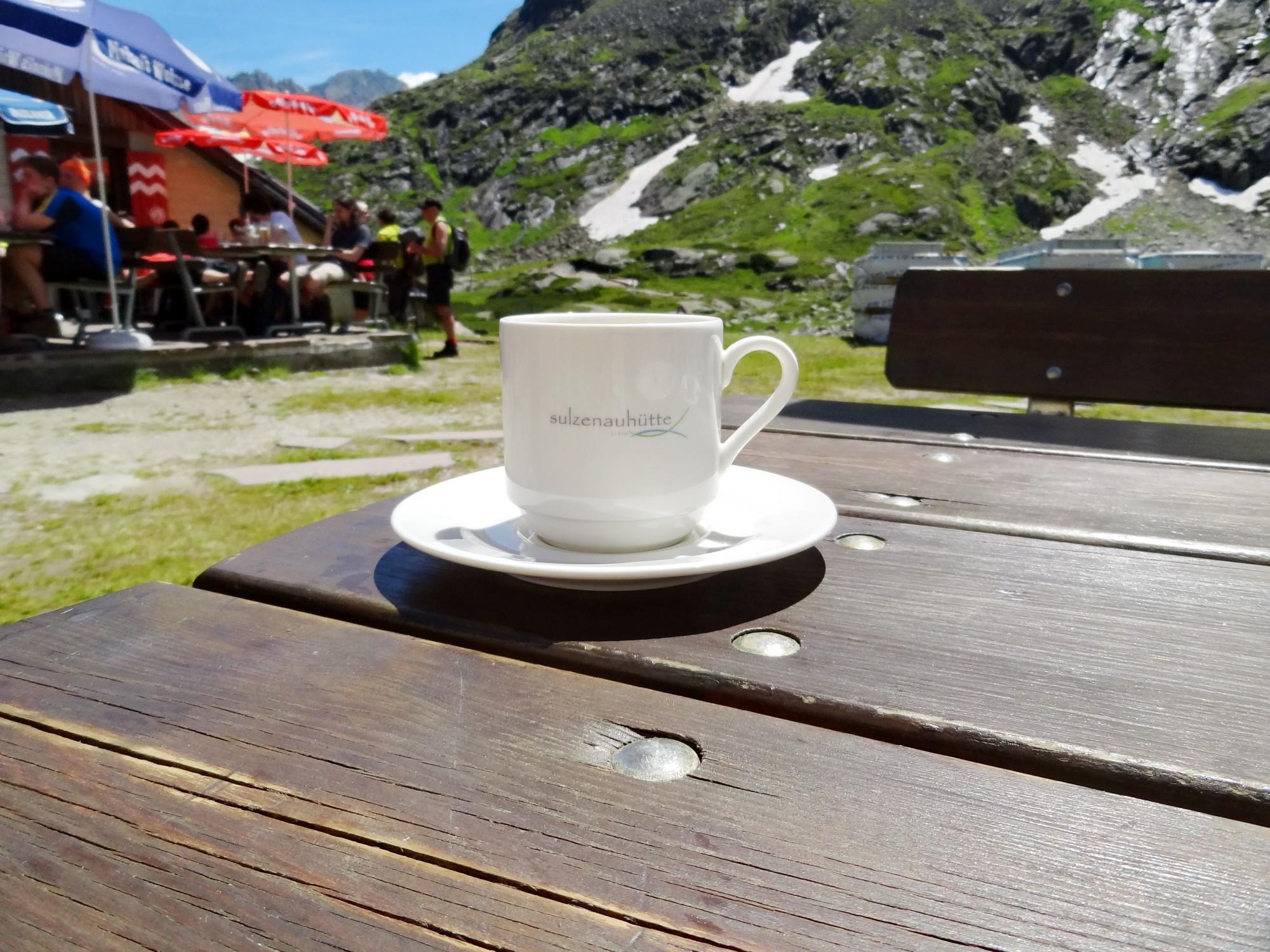 Kaffee auf der Sulzenauhütte