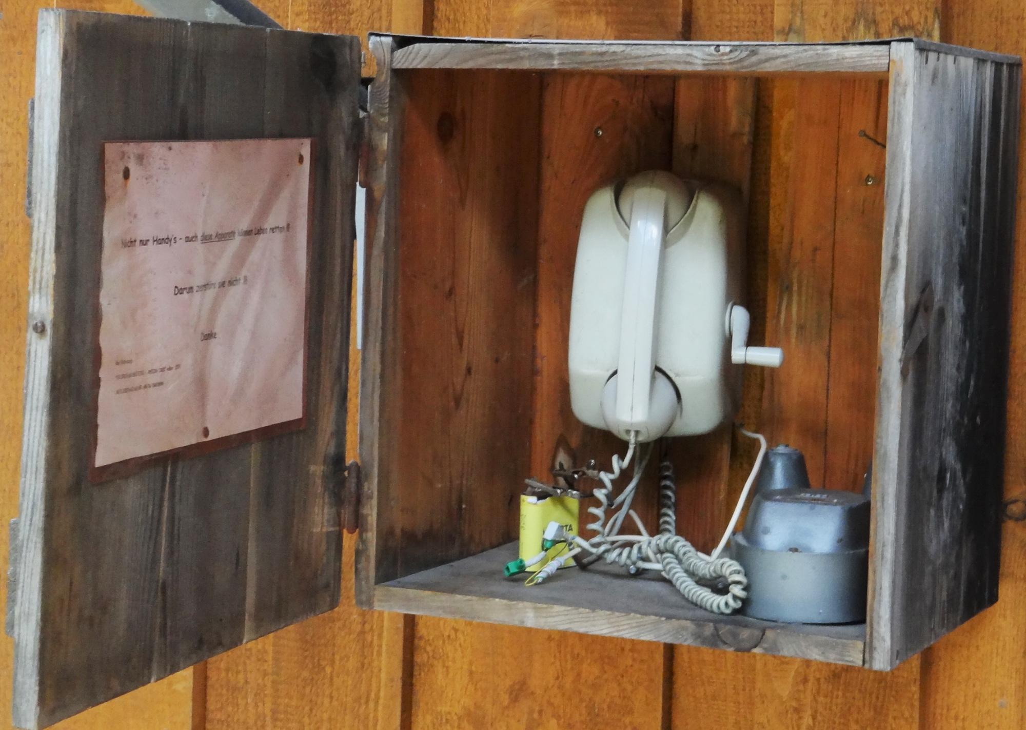 Sulzenau hut telephone