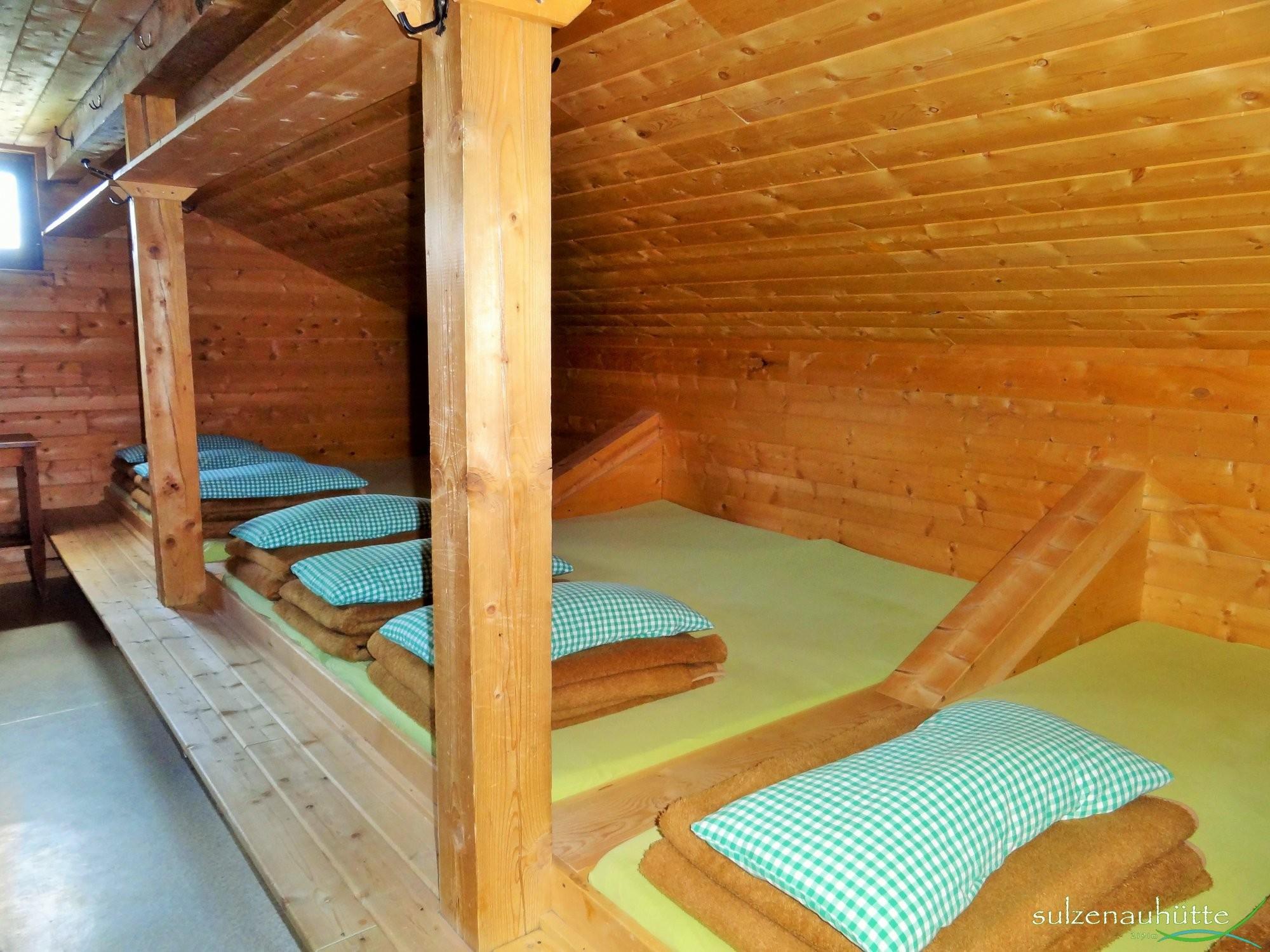 Matratzenlager hütte  Zimmer Pension & Preise - Sulzenauhütte 2191m