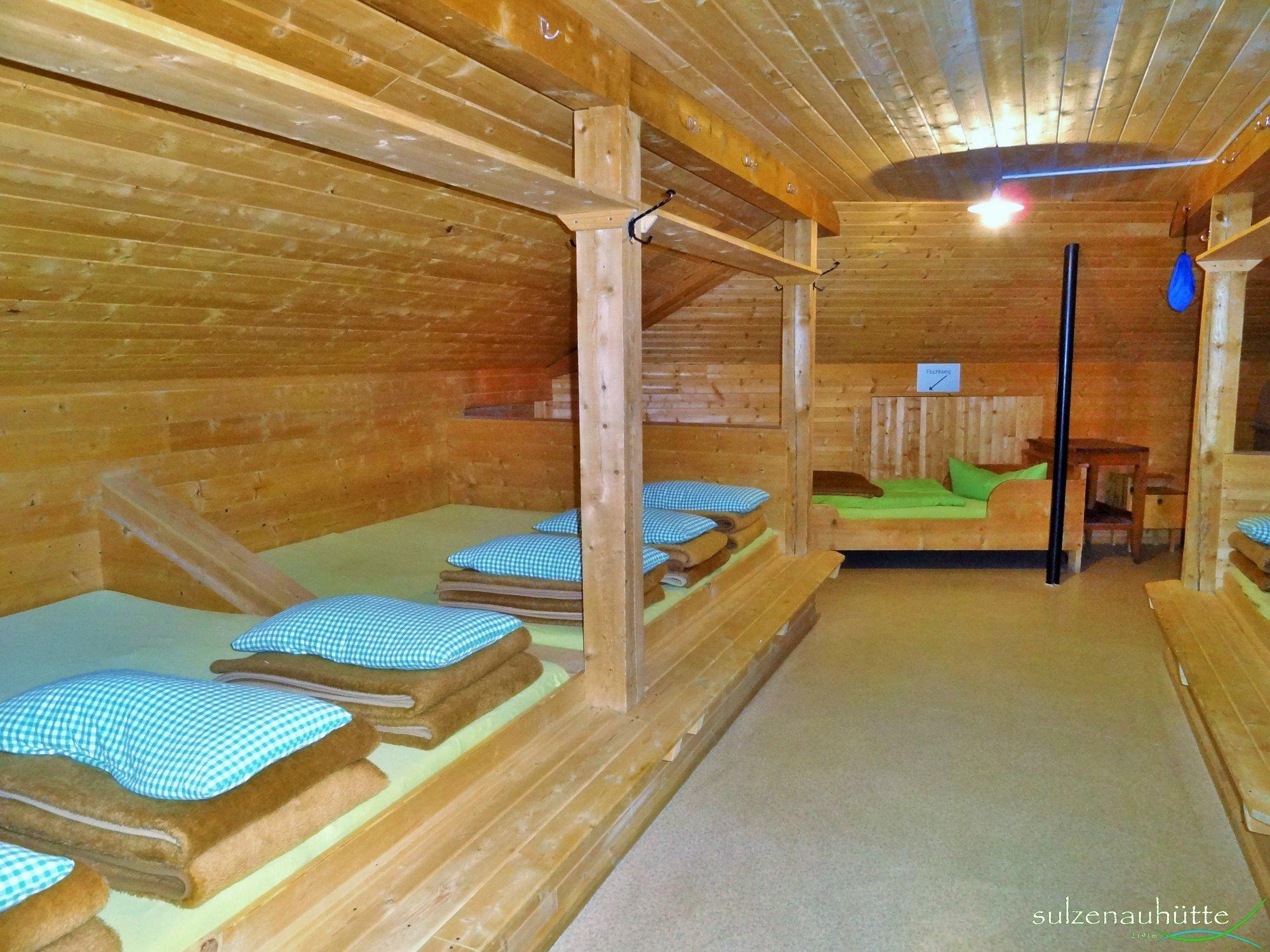 Larger dormitories of Sulzenau hut
