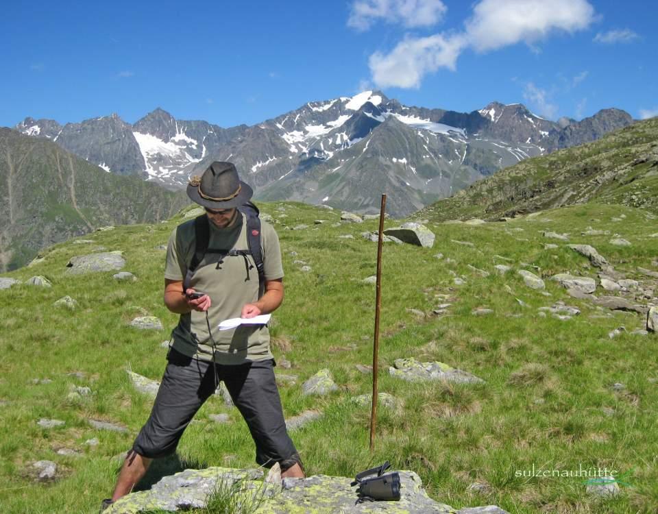 Geocaching at Stubai High Trail