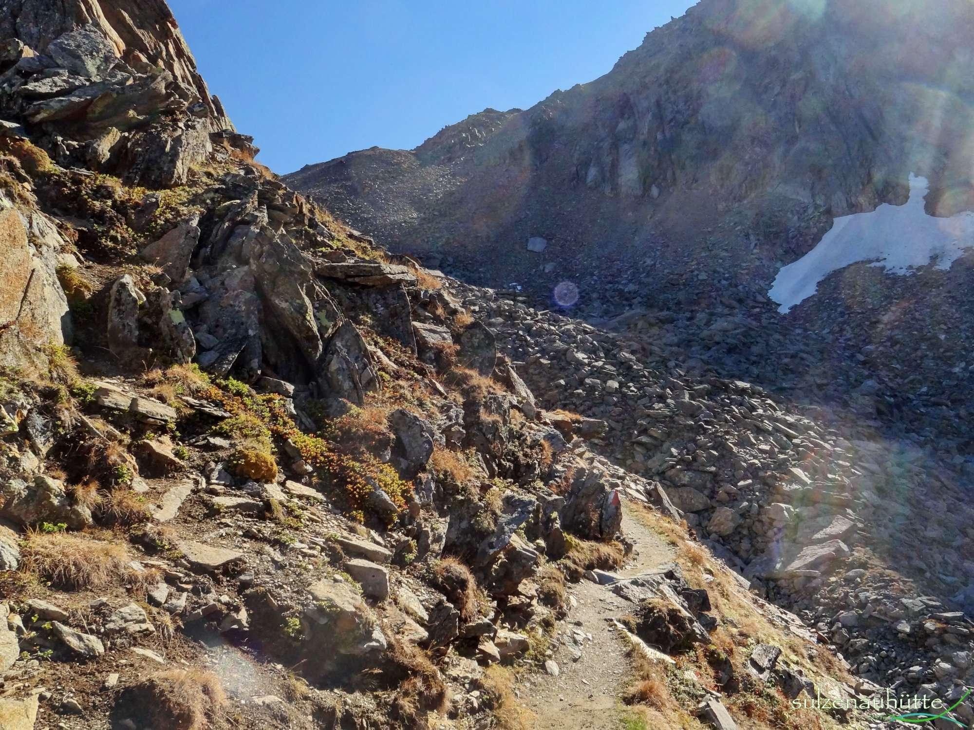 Peiljoch Impressionen vom Weg - Stubaier Höhenweg