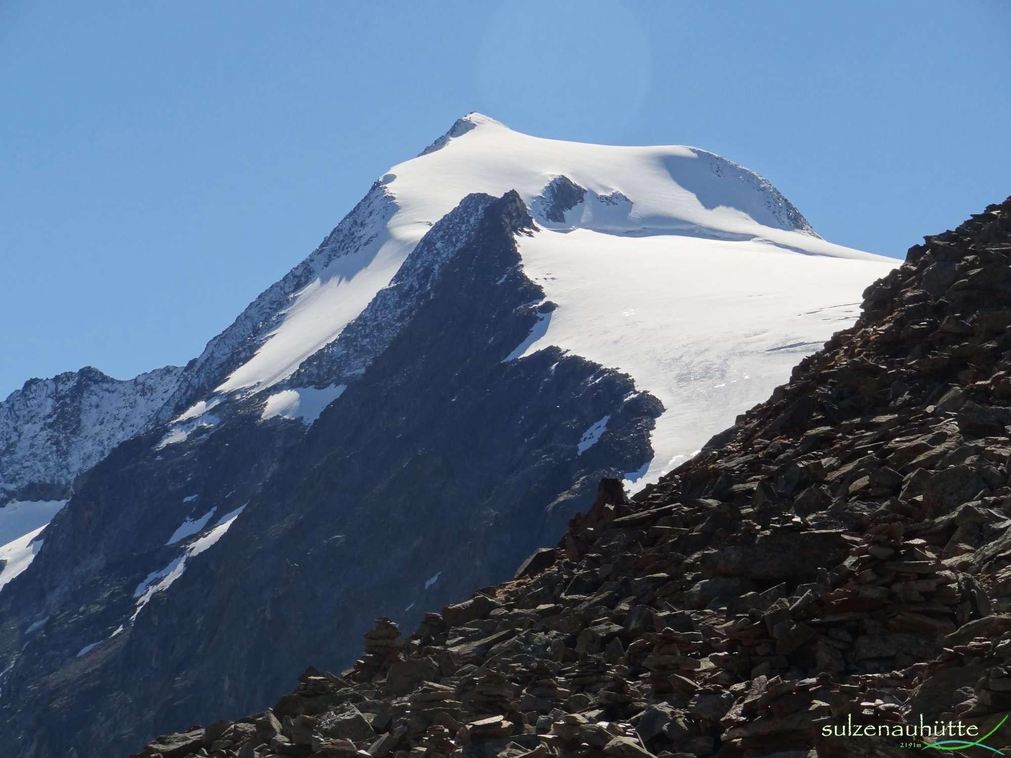 Peiljoch Blick auf Wilder Pfaff - Stubaier Höhenweg