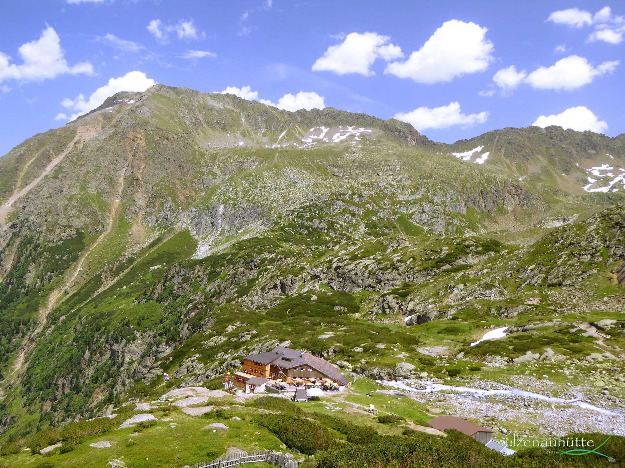 Sulzenau hut at Stubai High Trail