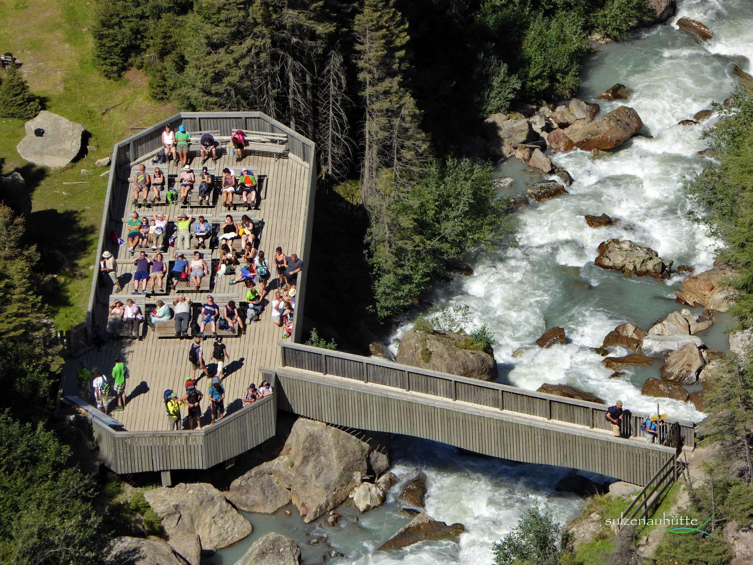 Grawa Wasserfall Sonnenplattform - WildeWasserWeg