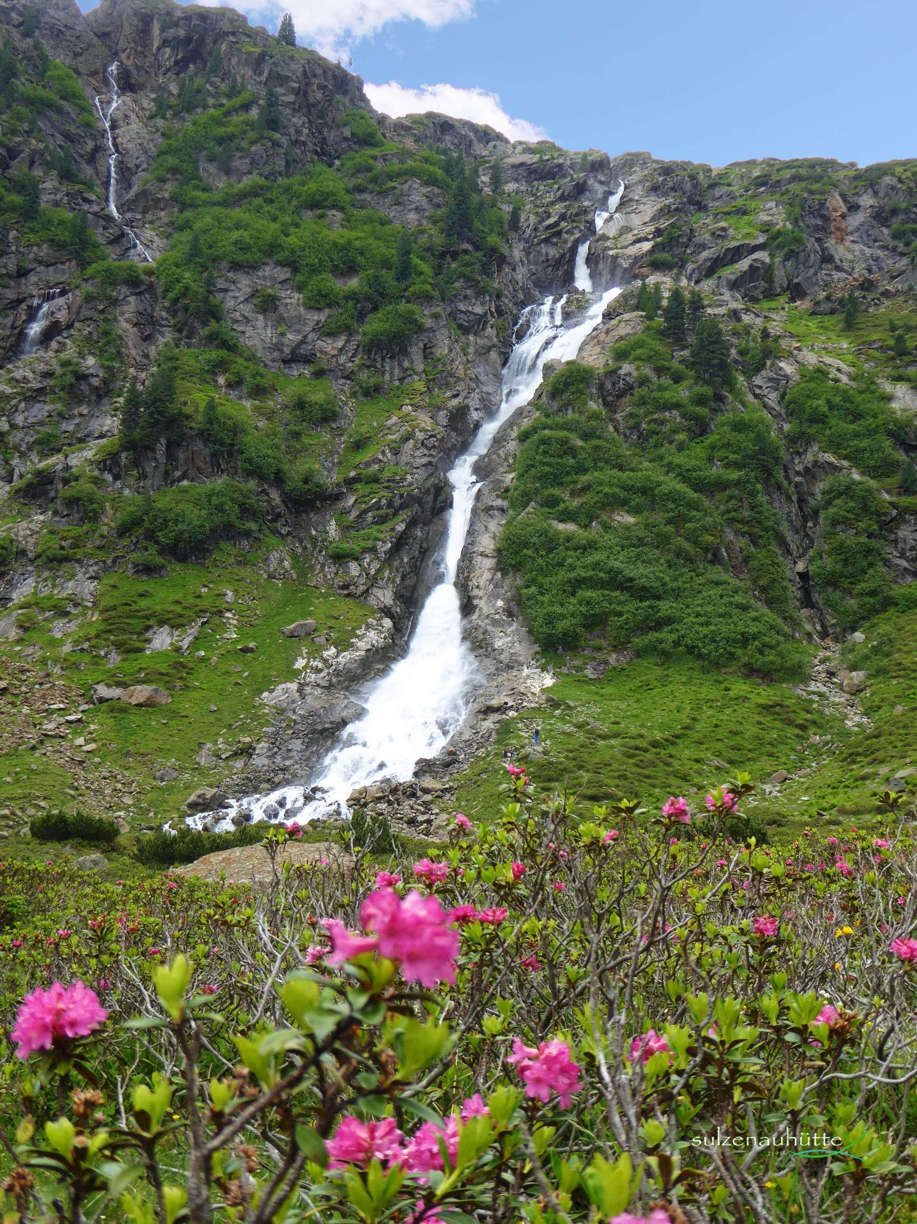 WildeWasserWeg - Wasserfall unter Sulzenauhütte